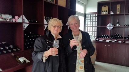Judy and Bing tasting lots of wine.