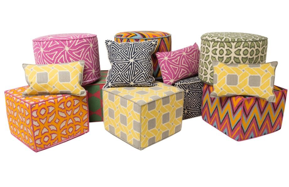 dhurrie pouffs and cushions