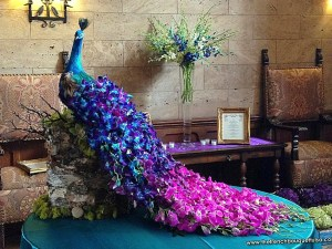 Peacock-Wedding-Floral-Architecture-Photo-By-The-French-Bouquet