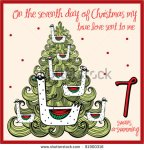 stock-vector-the-days-of-christmas-seventh-day-seven-swans-a-swimming-81900316