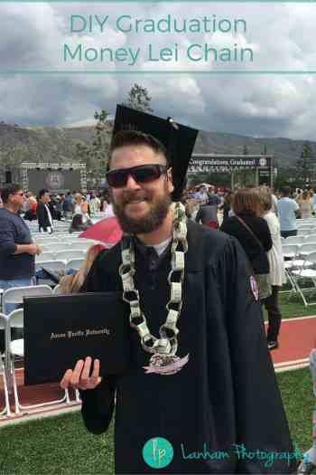 DIY Graduation Money Lei Chain