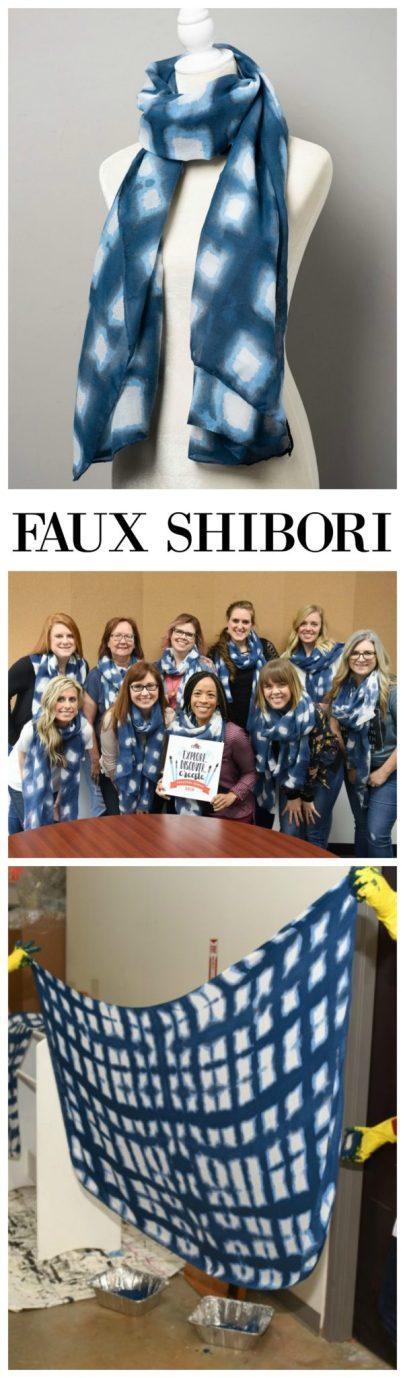 Faux Shibori Scarf