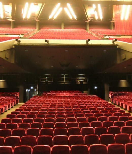 inside theatre at Cannes Palais des Festivals et des Congres