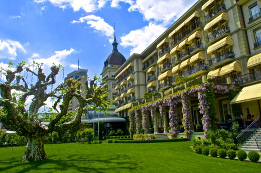 The Victoria-Jungfrau Hotel and Spa.