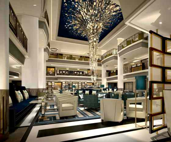 Artist's rendition of the Britannia's atrium, courtesy P&O Cruises.