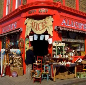 Alice's antique shop, Portobello Road