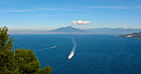 View of Vesuvius from Villa Jovis