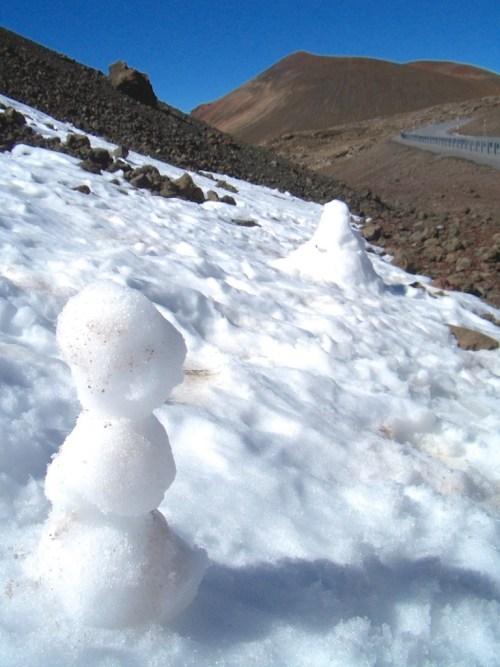 Snowman on Mauna Kea
