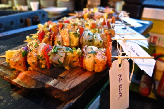 Kabobs get ready to feel the heat at the Queen of Hoxton