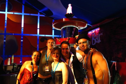 What do you get when you cross Cirque du Soleil with The Rocky Horror Picture Show? The fabulous La Pussy Parlure Nouveau bar staff