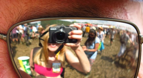 Proof that the sun DID shine, at least sometimes, at Glasto this year.