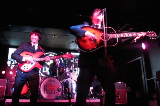 The Cavern Club Beatles play the band's greatest hits every Saturday night at Liverpool's Cavern Club.