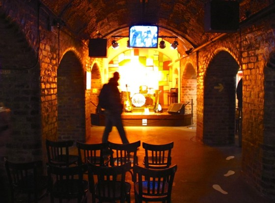 A recreation of the Cavern Club, the Beatles' old strumming grounds, at The Beatles Story
