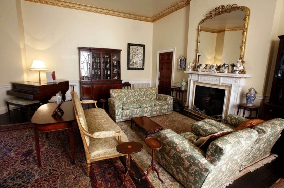 Drawing room of Greenway, the home of Agatha Christie. ©NTPL:Mark Passmore