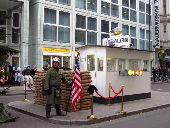 Checkpoint Charlie is now a tourist photo op.