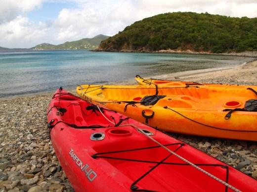 Kayaks at Haulover Bay, St. John