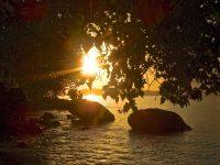 Sunset over sea St. John, USVI, Caribbean