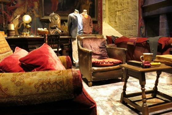 Gryffindor Common Room at Harry Potter Studio Tour at Warner Bros. Studio in Leavesden, near London