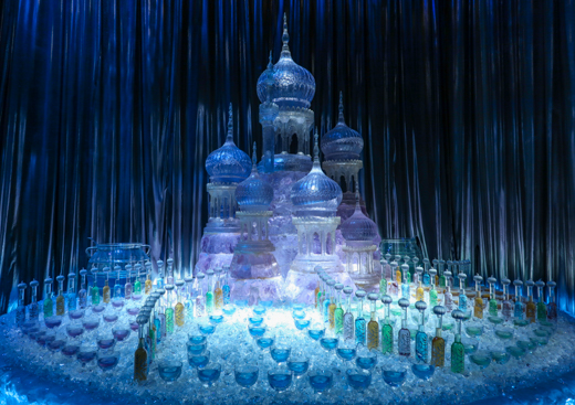 The ice castle from Harry Potter and The Goblet of Fire is one of the fantastic props on display at Warner Bros. Studio Tour London – The Making of Harry Potter. © Amy Laughinghouse