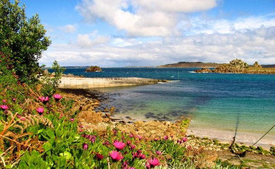 View of the dock on St. Agnes, England's Isles of Scilly
