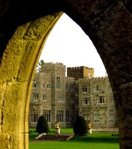 Ashford Castle viewed through an archway