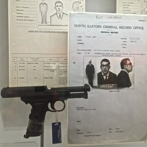 "A handgun used by notorious London gangster Ronald Kray is one of the items featured in the Museum of London's ""The Crime Museum Uncovered"" exhibition."
