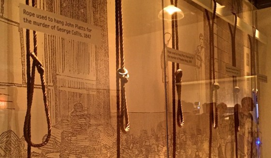 Ropes used to hang condemned prisoners on display at The Museum of London.