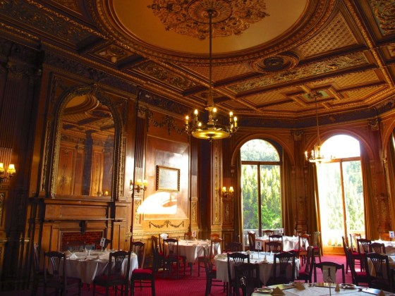 The dining room at Halton House, which featured as Haxby Park in Downton Abbey
