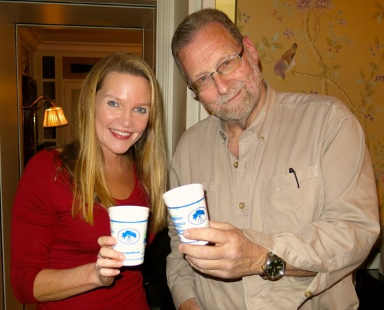 """Travel writer Amy Laughinghouse with """"The Travel Detective,"""" Peter Greenberg"""