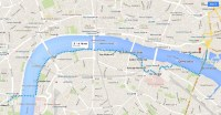 map of London landmarks along the Thames