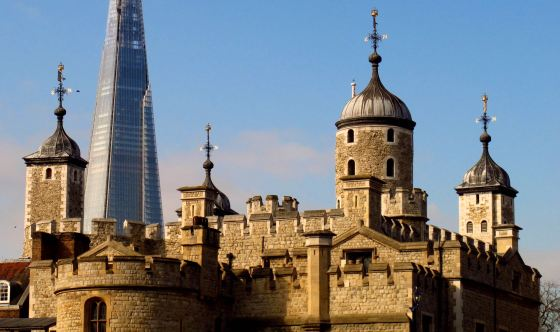 Tower of London with The Shard