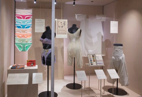 Installation view of Undressed: A Brief History of Underwear. (c) Victoria and Albert Museum, London