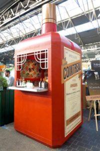 Cointreau liqueur pop-up kiosk