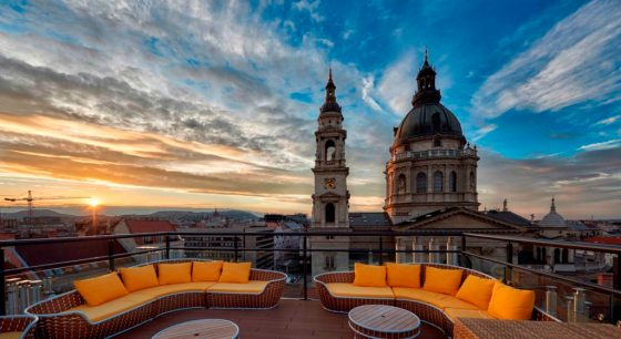 View from the High Note Sky Bar, courtesy Aria Hotel Budapest