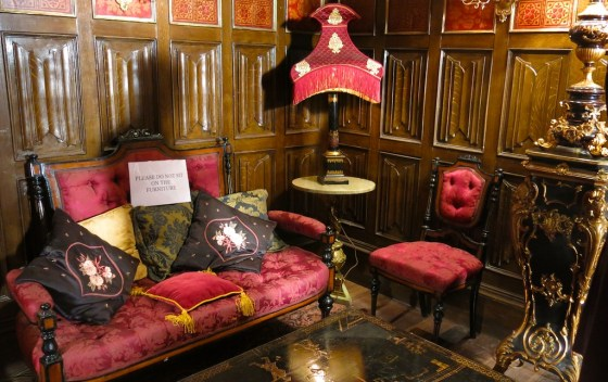 "King Cyrus' private apartments, as OTT as you'd expect. Taken on the London set of ""The Royals"" E! tv series."