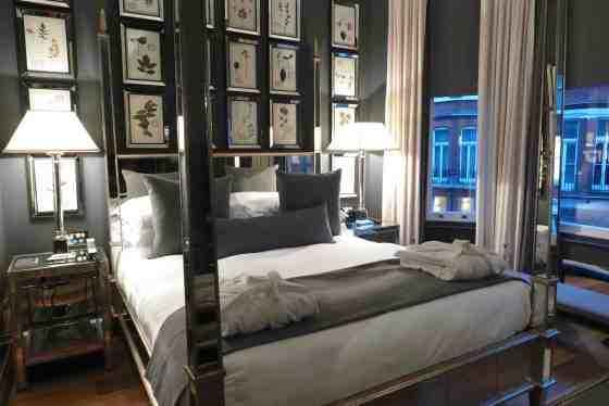 Room 101 at The Franklin hotel in Knightsbridge, London. Copyright Amy Laughinghouse.