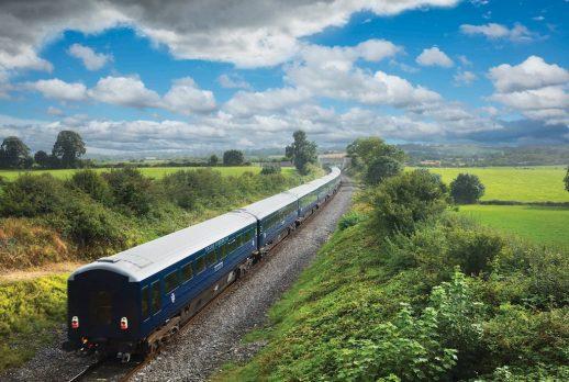the Belmond Grand Hibernian on the line to Cork south of Buttevant, Co Cork, Ireland