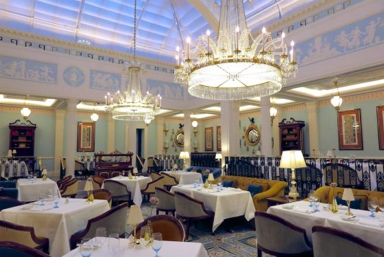Celeste Dining Room at The Lanesborough. Copyright Amy Laughinghouse.