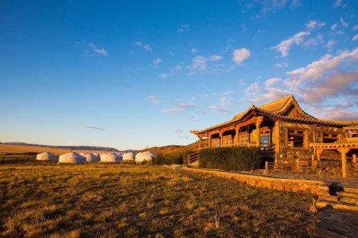 Get away from it all when you stay in a ger – a traditional lattice-work wooden structure draped in felt and canvas – at Nomadic Expeditions' Three Camel Lodge in Mongolia's Gobi Desert. Each of the 40 gers are heated by a wood stove and feature a private bathroom. Credit Nomadic Expeditions.