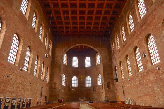 The Constantine Basilica in Trier is the largest single-room Roman structure still standing. Copyright Amy Laughinghouse.