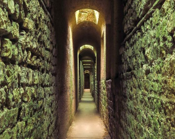Visit the subterranean tunnels beneath Trier's Kaiserthermen Imperial Baths, and you may have the site completely to yourself. Copyright Amy Laughinghouse.