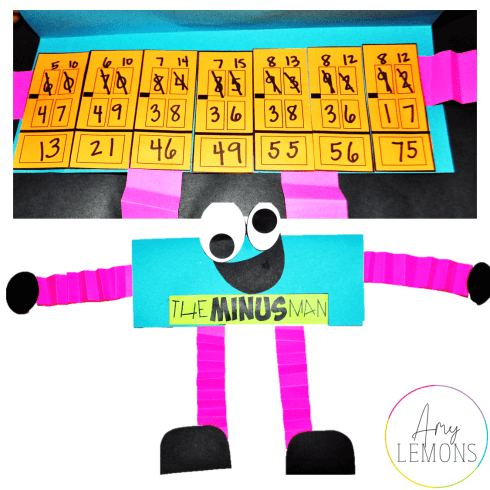 The Minus Man Subtraction with Regrouping