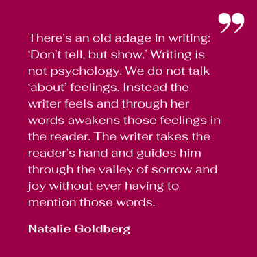 Natalie Goldberg quote about