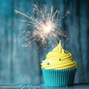 cupcake with sparkler - Work in Progress blog by Amy LeTourneur