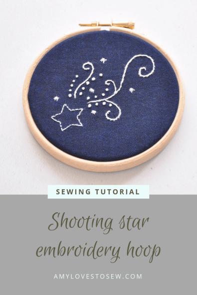 Star embroidery hoop