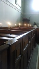 Pews for the staff