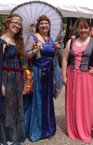 Me (on the left) and a couple of my writer's group friends at last year's Olde English Faire.