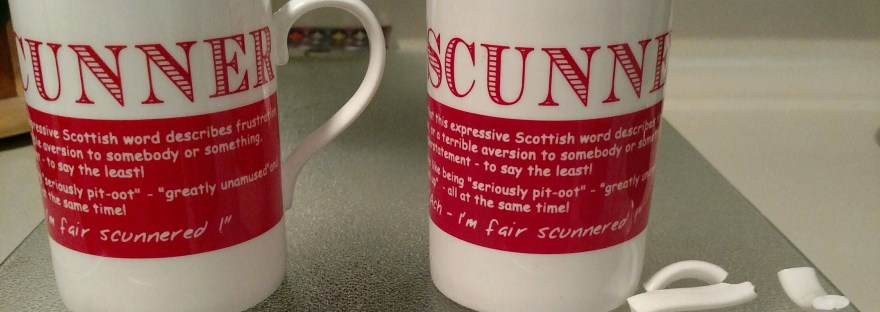 scunnered irish mug
