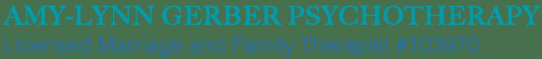 Amy-Lynn Gerber Psychotherapy