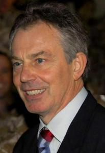 Former British Prime Minister Tony Blair in 2007.  Photo by Wikipedia user LittleMissSilly